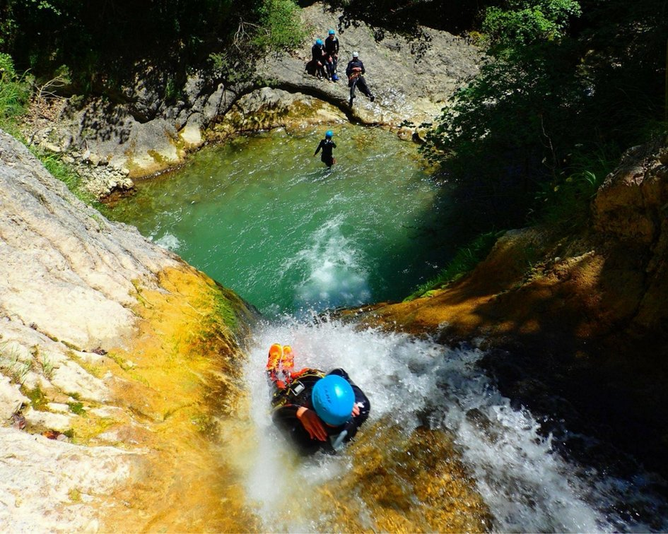 Outdoor canyoning